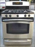 GE PROFILE GAS STOVE- BLACK/STAINLESS WITH WARRANTY