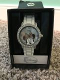 Disney women s watch - White silicon/rubber watch band with decorative crystal border. NWT - PU Innsbrook.
