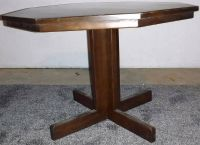 Wood Octagon Dining / Kitchen Pedestal Table ~ Project Piece