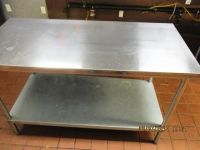 "Stainless Steel 60""x30"" Work Table W/Undershelf RTR#6122275-18"