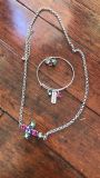 Swarovski crystal gift set I clues earrings, bracelet, and cross necklace (3 available)