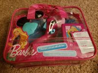 Barbie Telescopic rod and Shakespeare reel with line.
