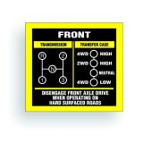 Find TRANSMISSION SHIFT PATTERN decal fits willys cj jeep DANA 20 3 speed AR009 motorcycle in Mentor, Ohio, United States, for US $9.98
