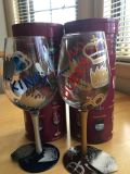 Lolita King & Queen Hand-painted Wine Glasses. Never used