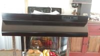Broan 30 inch black under cabinet, non ducted range hood