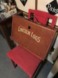 Vintage Lincoln Logs wooden case. EUC considering age.