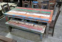 FREE Shipping Recycled Wood, Hand Crafted DINING TABLE from India (Ganesha Home)