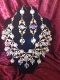 Glamorous set of jewelry(2 tone,gold and silver)