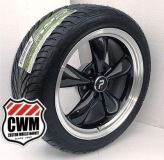 "Purchase 17x8"" Classic 5 Spoke Black Wheels Rims Federal Tires for Chevy El Camino 1966 motorcycle in Grand Terrace, California, US, for US $1,069.00"
