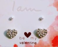 New heart and pearl earrings