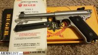 For Sale: RUGER MKII STAINLESS TARGET MODEL