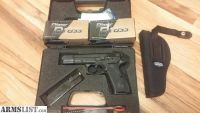 "For Sale: Like New CZ 75 B 9MM 4.7"" FREE HOLSTER AND 2 BOXES OF AMMO"