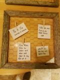Farm house style chicken wire frame