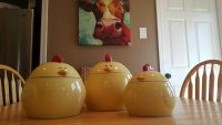 Set of 3 Funky Chicken Canisters