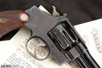 For Sale: Smith & Wesson S&W Pre-War Model .38/44 Outdoorsman, Blue 6 Da Revolver & Paperwork, MFD 1934 C&R .44 Special