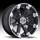 "Purchase 12"" Vision 393 Lock Out ATV Wheels 12X7 4X101.6 BS4"" Matte Black Machined Lip motorcycle in Holt, Michigan, US, for US $95.00"