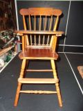Vtg Wooden, Doll, High Chair