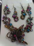 Beautiful butterfly necklace and earrings