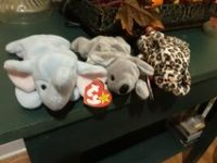 TY Freckles, Mel and Peanut beanie babies