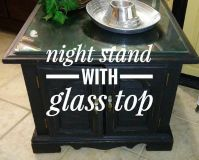 Adorable Night Stand with Glass Top