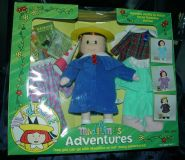 "1999 12"" Madeline's Adventures Doll with Clothes and Books - Retired"