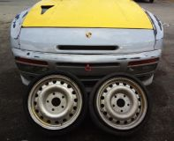 Buy Porsche 944 turbo spare 356 out law rims Porsche spare tire motorcycle in Hialeah, Florida, US, for US $450.00