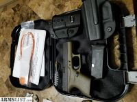 For Sale/Trade: Glock 43 OD green with night sights and holsters