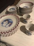 Stoneware Christmas Plates, Bowls and Cups