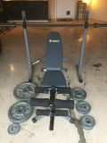 Adjustable weight bench with leg press and 255 lbs of weights