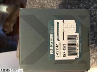 For Sale: Vortex razor 3-15 lh hd