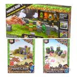 Minecraft! Lot of 3. Stop Motion Movie Creator, Overworld Shelter Set and Animals Mob Set.