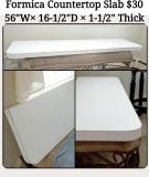 White Formica Countertop with Rounded Edge