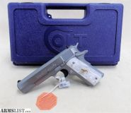 For Sale: Colt O1091 1911 Government 45ACP SS Custom Grips