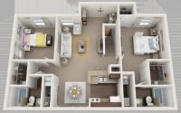 2 Beds - Chase Run Apartments
