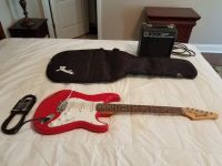 Starcaster Fender Guitar with Case and Amplifier (firm)