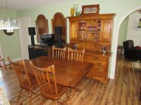 Tommy Bahama Style Table & Chairs, 2 Leaves, China Cabinet Hutch~Solid Maple