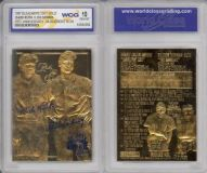 BABE RUTH & LOU GEHRIG Murderer's Row 23KT Gold Card Graded 10