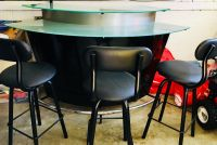 Two Tiered Bar & Stools
