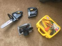 Boys tool lot! Tools make noise; miscellaneous tools in tool box. Price is for all!