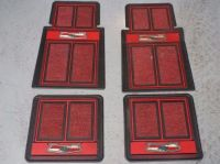 Sell 50's Chevrolet Bowtie Floor Mats Red, Black, Rubber, and Carpet Chevy motorcycle in Fredericksburg, Texas, United States, for US $85.00