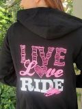 Find Snowmobile Ladies Live Love Ride Sled Diva Zipped Hoody Ski-Doo Artic Cat Polari motorcycle in Clinton Township, Michigan, United States, for US $49.00