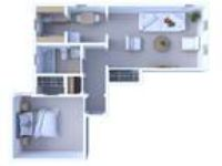 Museum Walk Apartments - One BR Floor Plan A2