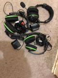 3 Xbox 360 turtle beach headsets all wires included