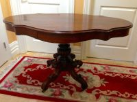 Antique Entry Table Scallop Shape Top