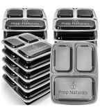 Brand New Set of 15 three compartment containers with lids