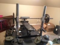 Weight Set with Bench--Gym Quality $700