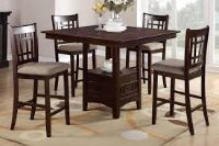 Tall Table Top with 4 chairs-