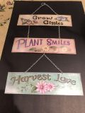 Beautiful three tiered sign for home or garden!