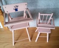 VINTAGE Wooden doll high chairs