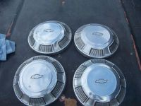 """Purchase 68 69 70 71 72 CHEVROLET Dog Dish Hub Caps Set 4 Chevy Poverty 10 1/2"""" WILL SHIP motorcycle in Pinon Hills, California, United States, for US $60.00"""